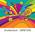 big bang background  vector ....