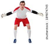 goalkeeper in white ready to... | Shutterstock . vector #189874745