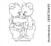 valentines love card vector... | Shutterstock .eps vector #1898750695
