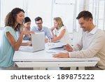 casual business team having a... | Shutterstock . vector #189875222