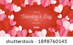 happy st. valentines day card... | Shutterstock .eps vector #1898760145