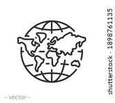 map world icon  globe with... | Shutterstock .eps vector #1898761135