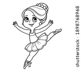 artoon little ballerina girl... | Shutterstock .eps vector #1898768968