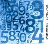 random lottery number background illustration - stock photo
