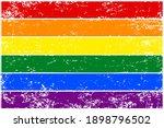 rainbow flag lgbt. colorful... | Shutterstock .eps vector #1898796502