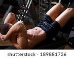 bodybuilder man at abdominal... | Shutterstock . vector #189881726