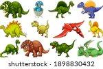 set of different dinosaur... | Shutterstock .eps vector #1898830432