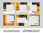 set of editable minimal square... | Shutterstock .eps vector #1898862835