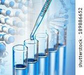laboratory glassware on color... | Shutterstock . vector #189886652
