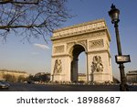 triumphal arch at the place... | Shutterstock . vector #18988687