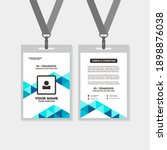 design template of id card  for ... | Shutterstock .eps vector #1898876038