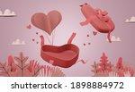 lovely happy valentines opened... | Shutterstock . vector #1898884972