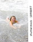 the child in sea waves | Shutterstock . vector #1898897