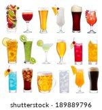 set of various drinks ... | Shutterstock . vector #189889796