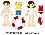 Lifeguard Paper Dolls   Vector
