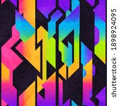 rainbow color geometric pattern ... | Shutterstock .eps vector #1898924095