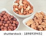 Various Nuts And Almonds In...