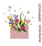 spring card with a postal... | Shutterstock .eps vector #1898945425