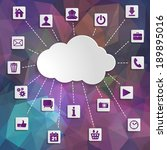 abstract cloud computing with... | Shutterstock . vector #189895016