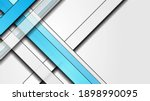 blue and grey stripes abstract... | Shutterstock . vector #1898990095