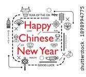 design concept of word chinese... | Shutterstock .eps vector #1898994775