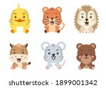 different style of wild animal...   Shutterstock .eps vector #1899001342
