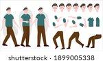 handsome man constructor in...   Shutterstock .eps vector #1899005338