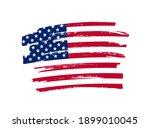 flag of usa in brush stroke... | Shutterstock .eps vector #1899010045