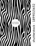 trendy zebra skin pattern... | Shutterstock .eps vector #1899015652