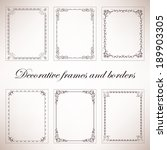set vintage decorative frames... | Shutterstock .eps vector #189903305