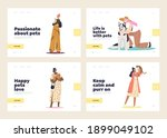 pets owners and domestic animal ... | Shutterstock .eps vector #1899049102