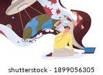 conspiracy theories concept.... | Shutterstock .eps vector #1899056305