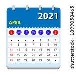 2021 calendar. wall calendar... | Shutterstock .eps vector #1899058465