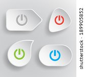 switch element. white flat... | Shutterstock .eps vector #189905852