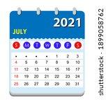 2021 calendar. wall calendar... | Shutterstock .eps vector #1899058762