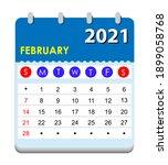 2021 calendar. wall calendar... | Shutterstock .eps vector #1899058768