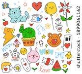 hand drawn doodle set of... | Shutterstock .eps vector #1899061162