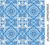 blue tile traditional seamless... | Shutterstock . vector #1899069805