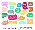 online chat speech bubble with...   Shutterstock .eps vector #1899078772