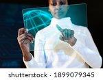 african american woman using... | Shutterstock . vector #1899079345