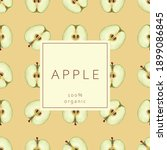 seamless pattern with apples.... | Shutterstock .eps vector #1899086845