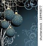 christmas theme. vector... | Shutterstock .eps vector #18990877