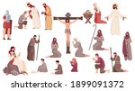 easter flat icons set with...   Shutterstock .eps vector #1899091372