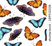 seamless pattern of butterflies | Shutterstock .eps vector #189910208