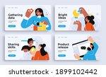 set of presentation slide... | Shutterstock .eps vector #1899102442