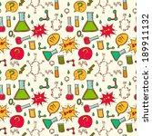 vector chemistry background.... | Shutterstock .eps vector #189911132