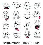 face expression isolated vector ... | Shutterstock .eps vector #1899118435