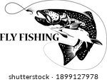 Fly Fisherman Fishing.graphic...