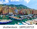 Camogli Town In Liguria  Italy. ...