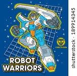 robot warrior | Shutterstock .eps vector #189914345